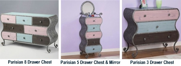 Powell Furniture Parisian Bedroom Collection