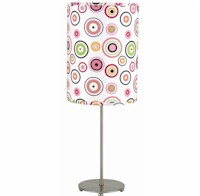 The Lite Source Polished Steel BullsEye Far Out Table Lamp