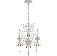 Lite Source Melanthe 3 Chandelier in Antique Crystal