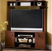 SouthShore Furniture Vertex Corner ClassicCherry Media Center