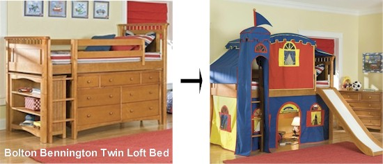 Bolton Bennington Twin Loft Bed