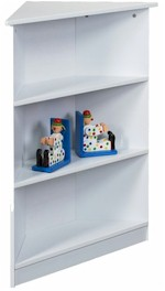 Kids Korner White Corner Bookshelff