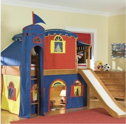 Bolton Bennington Twin Loft Bed and Tent with Slide