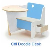 Offi Doodle Desk in Blue