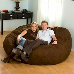Comfort Research Fuf Beanbag Chair in Espresso
