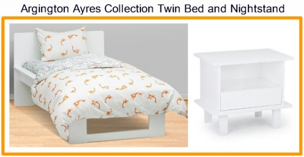 Argington Ayres Collection Twin Bed and Nightstand
