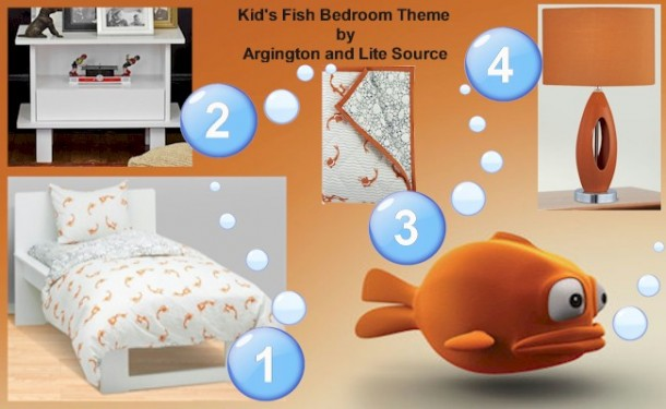 Kids Bedroom Fish Theme