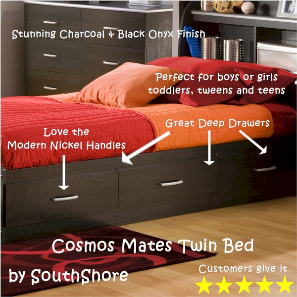 Cosmos Mates Twin Bed by SouthShore