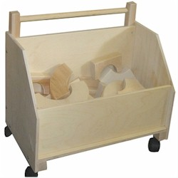 Toy Chest on Wheels by Beka