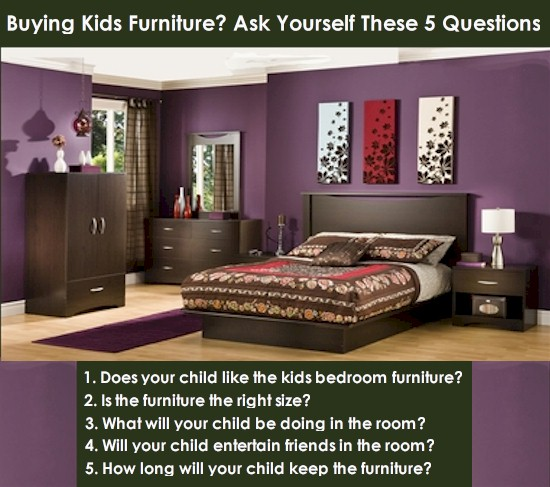 What to ask when buying kids bedroom furniture