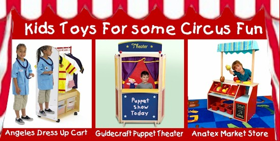 Kids Toys for a Circus Theme Playroom