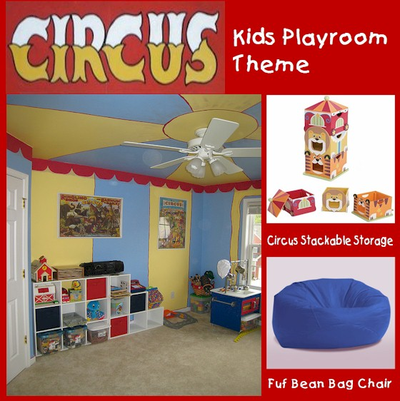 Kids Playroom Circus Theme