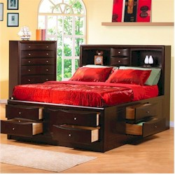 Phoenix platform bed by Coaster