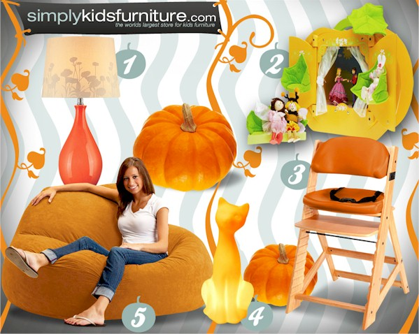pumkin colored kids furniture
